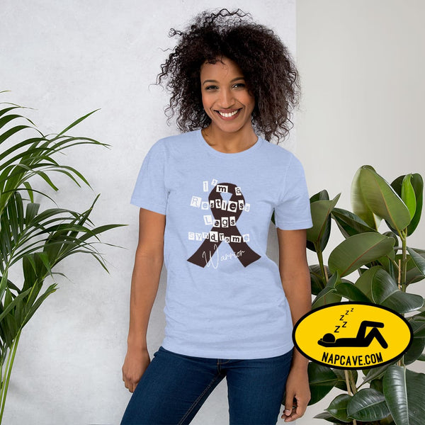 Restless Legs Syndrome Warrior Short-Sleeve Unisex T-Shirt Heather Blue / S The NapCave Restless Legs Syndrome Warrior Short-Sleeve Unisex