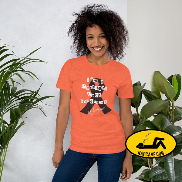 Restless Legs Syndrome Warrior Short-Sleeve Unisex T-Shirt Heather Orange / S The NapCave Restless Legs Syndrome Warrior Short-Sleeve Unisex