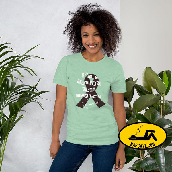 Restless Legs Syndrome Warrior Short-Sleeve Unisex T-Shirt Heather Prism Mint / XS The NapCave Restless Legs Syndrome Warrior Short-Sleeve