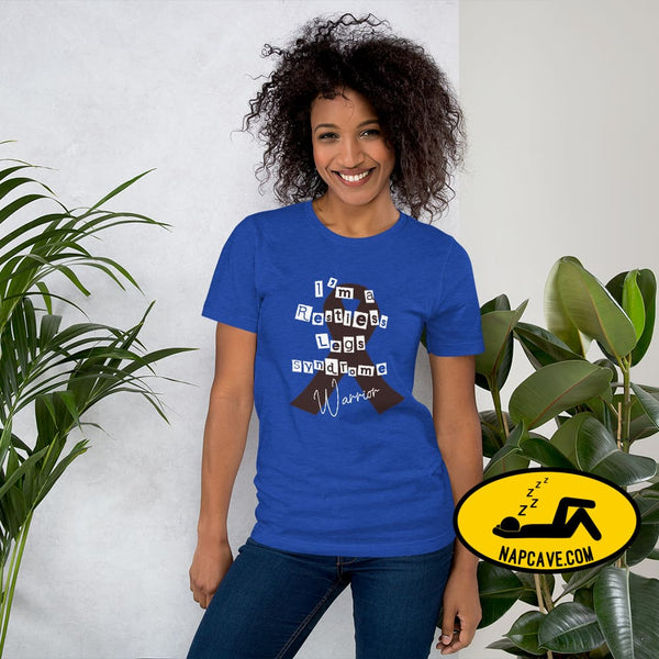 Restless Legs Syndrome Warrior Short-Sleeve Unisex T-Shirt Heather True Royal / S The NapCave Restless Legs Syndrome Warrior Short-Sleeve