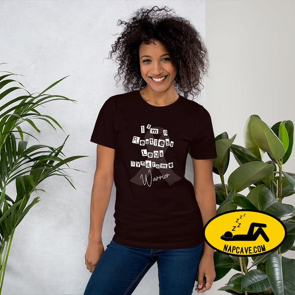 Restless Legs Syndrome Warrior Short-Sleeve Unisex T-Shirt Oxblood Black / S The NapCave Restless Legs Syndrome Warrior Short-Sleeve Unisex