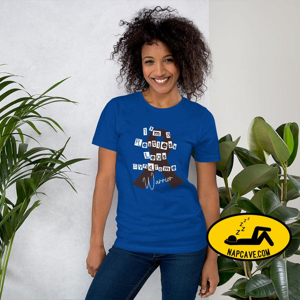 Restless Legs Syndrome Warrior Short-Sleeve Unisex T-Shirt True Royal / S The NapCave Restless Legs Syndrome Warrior Short-Sleeve Unisex