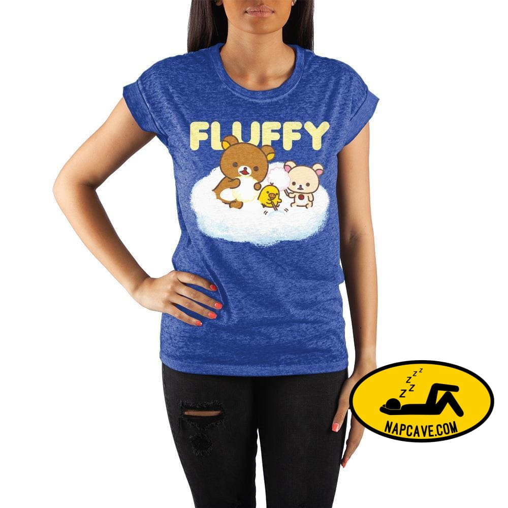 Rilakkuma Crew Neck Rolled Sleeve T Shirt The NapCave Rilakkuma Crew Neck Rolled Sleeve T Shirt mxed