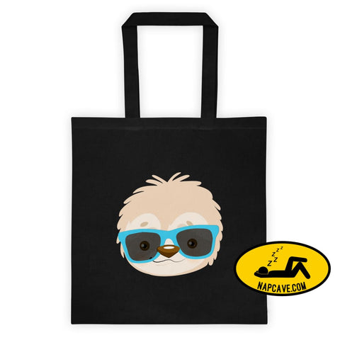Serial Chiller Cool Sloth Shades Tote bag The NapCave Serial Chiller Cool Sloth Shades Tote bag awareness bag ecotote napcave naps