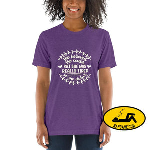 She Believed She Could But She was Tired Short sleeve t-shirt Purple Triblend / XS Shirt The NapCave She Believed She Could But She was