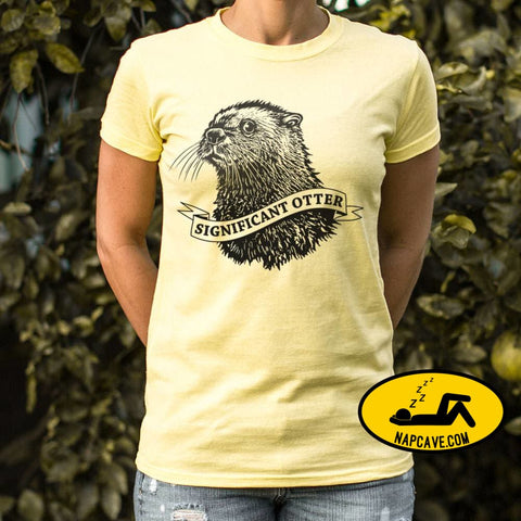 Significant Otter T-Shirt (Ladies) Ladies T-Shirt US Drop Ship Significant Otter T-Shirt (Ladies) animal funny pet pun tank