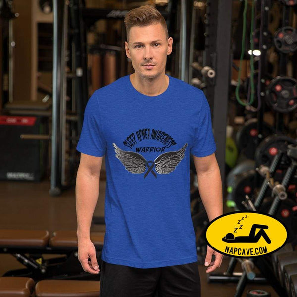 Sleep Apnea Awareness Warrior Short-Sleeve Unisex T-Shirt Heather True Royal / S SHIRT The NapCave Sleep Apnea Awareness Warrior