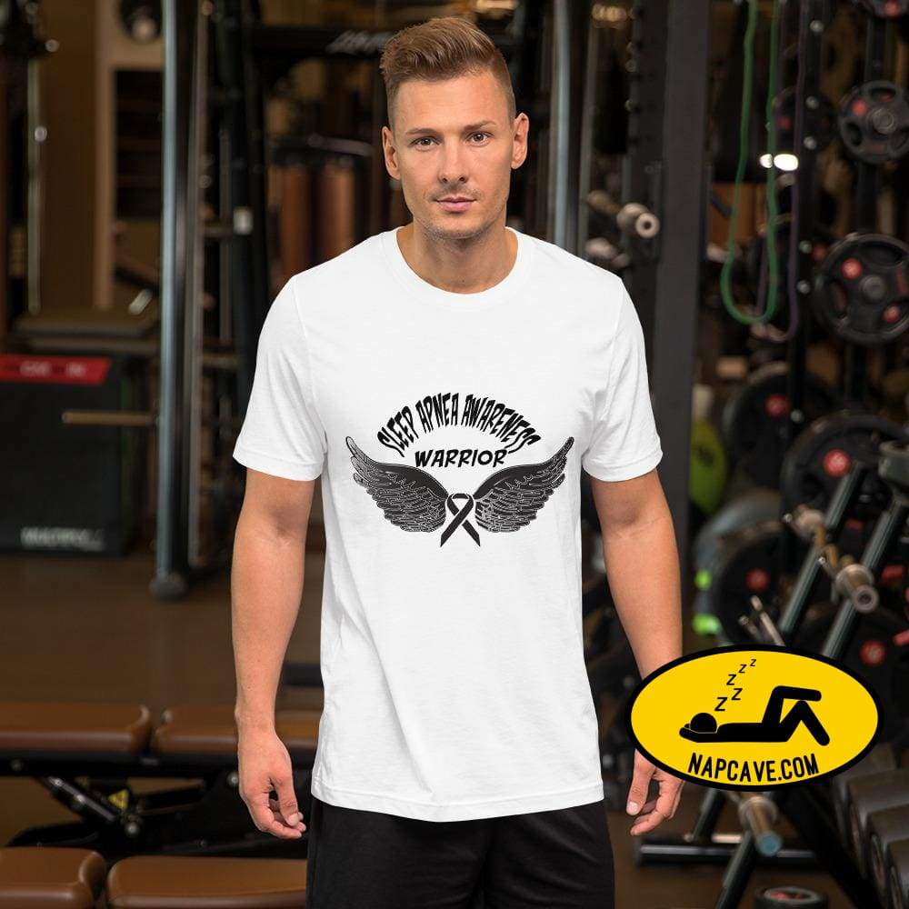 Sleep Apnea Awareness Warrior Short-Sleeve Unisex T-Shirt White / XS SHIRT The NapCave Sleep Apnea Awareness Warrior Short-Sleeve Unisex