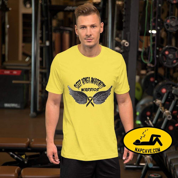 Sleep Apnea Awareness Warrior Short-Sleeve Unisex T-Shirt Yellow / S SHIRT The NapCave Sleep Apnea Awareness Warrior Short-Sleeve Unisex