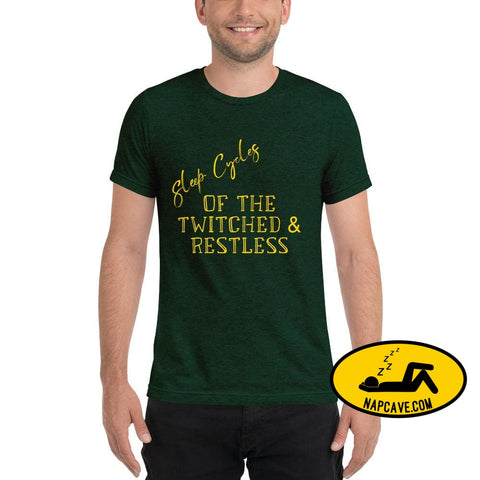 Sleep Cycles of the Twitched and Restless Short sleeve t-shirt Emerald Triblend / XS The NapCave Sleep Cycles of the Twitched and Restless
