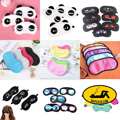 Sleeping Eye Mask Sleep Tools Bandage On Eyes Black Eye Shade Nap mask The NapCave Sleeping Eye Mask Sleep Tools Bandage On Eyes Black Eye