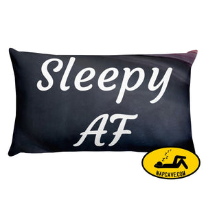 Sleepy AF Pillow 20×12 The NapCave Sleepy AF Pillow AF Circadian Rhythm Disorder Gift invisible illness nap