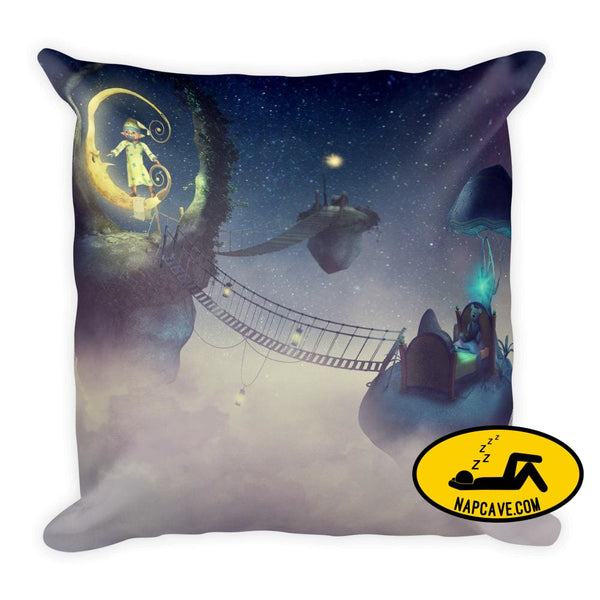 Sleepy Fantasy Pillow 18×18 Pillow The NapCave Sleepy Fantasy Pillow art comfort cozy fantasy gift
