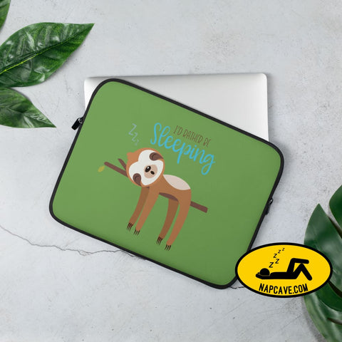 Slothlife Id Rather be Sleeping Laptop Sleeve - 13 in or 15 in 13 in Laptop sleeve case The NapCave Slothlife Id Rather be Sleeping Laptop