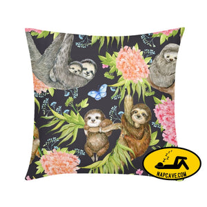 slothwild Throw Pillow Case 18x18 Pillow The NapCave slothwild Throw Pillow Case 18x18 #worldnarcolepsyday Batman has Narcolepsy couch