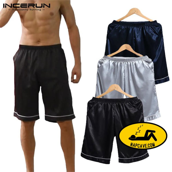 Soft Silk Satin Pajamas Homewear Shorts for Men Pajamas The NapCave Soft Silk Satin Pajamas Homewear Shorts for Men boxers feels great gifts