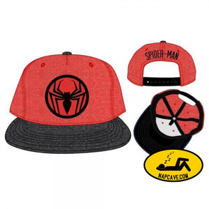 Spiderman Two Tone Cationic Red and Black Snapback Marvel Comics Spiderman Two Tone Cationic Red and Black Snapback mxed