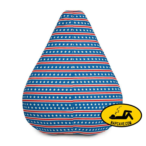 Stars and Stripes All-Over Print Bean Bag Chair w/ filling Bean Bag The NapCave Stars and Stripes All-Over Print Bean Bag Chair w/ filling A