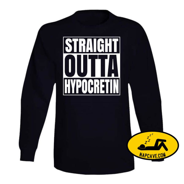 Straight Outta Hypocretin Ladies T Shirt Long Sleeve / Black / Small T-Shirt Tshirtgang Straight Outta Hypocretin Ladies T Shirt awareness