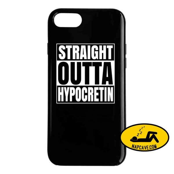 Straight Outta Hypocretin Ladies T Shirt Phone Case / Black / iPhone 8 T-Shirt Tshirtgang Straight Outta Hypocretin Ladies T Shirt awareness