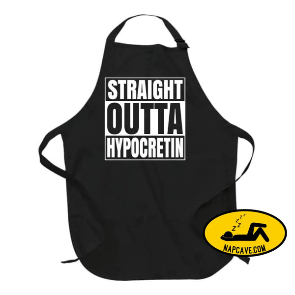 Straight Outta Hypocretin Long Sleeve Apron / Black / Large T-Shirt Tshirtgang Straight Outta Hypocretin Long Sleeve hypocretin long outta