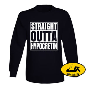 Straight Outta Hypocretin Long Sleeve Long Sleeve / Black / Small T-Shirt Tshirtgang Straight Outta Hypocretin Long Sleeve hypocretin long