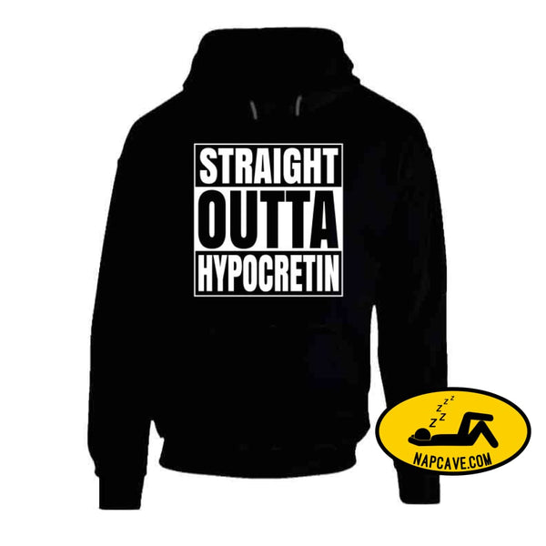 Straight Outta Hypocretin Long Sleeve Hoodie / Black / Small T-Shirt Tshirtgang Straight Outta Hypocretin Long Sleeve hypocretin long outta