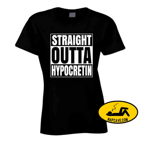 Straight Outta Hypocretin Long Sleeve Ladies / Black / Small T-Shirt Tshirtgang Straight Outta Hypocretin Long Sleeve hypocretin long outta