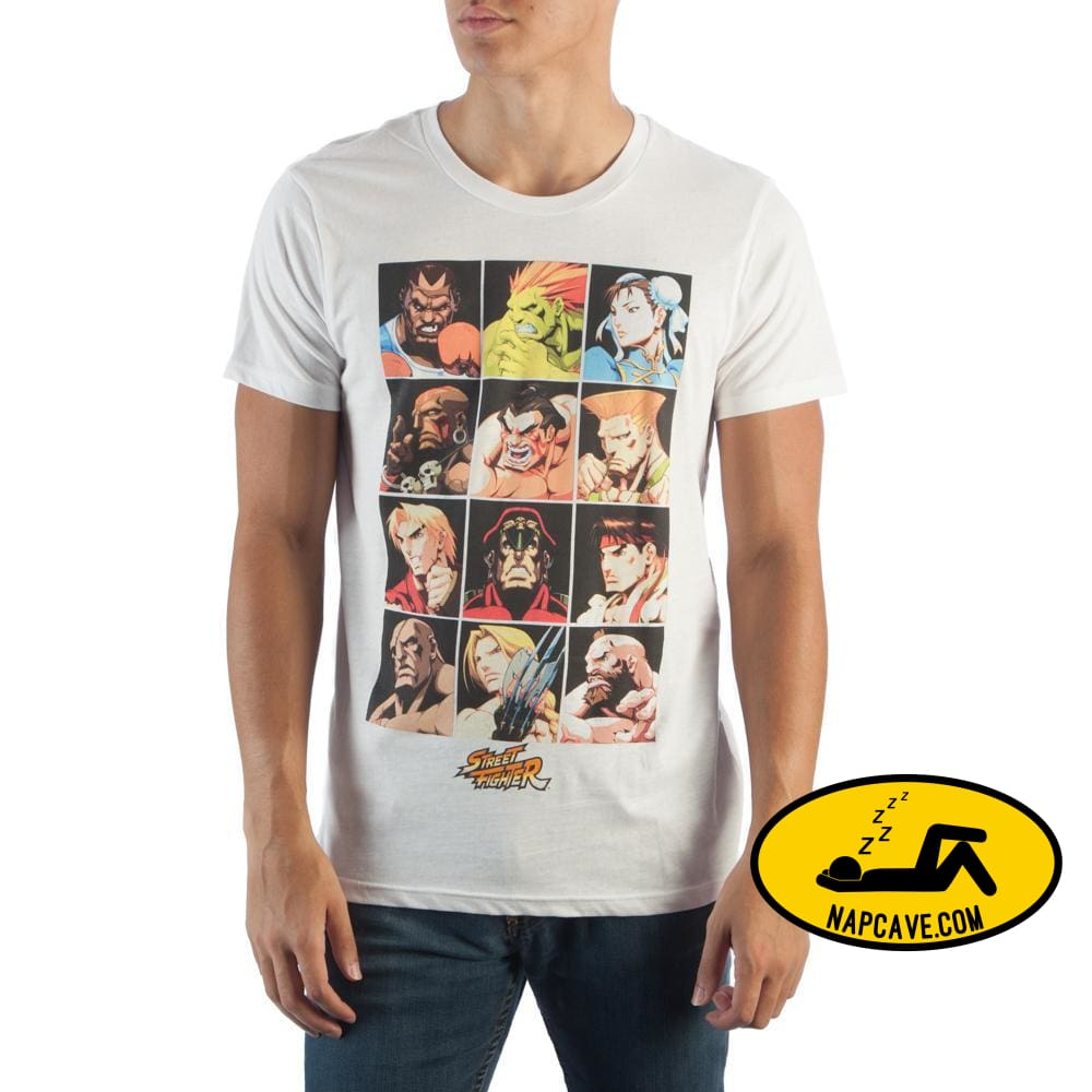 Street Fighter Character Grid T-Shirt Capcom Street Fighter Character Grid T-Shirt mxed