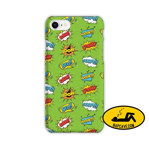 Super Hero Iphone Cases iPhone 7 / pow bang bom poom JetPrint Fulfillment Super Hero Iphone Cases