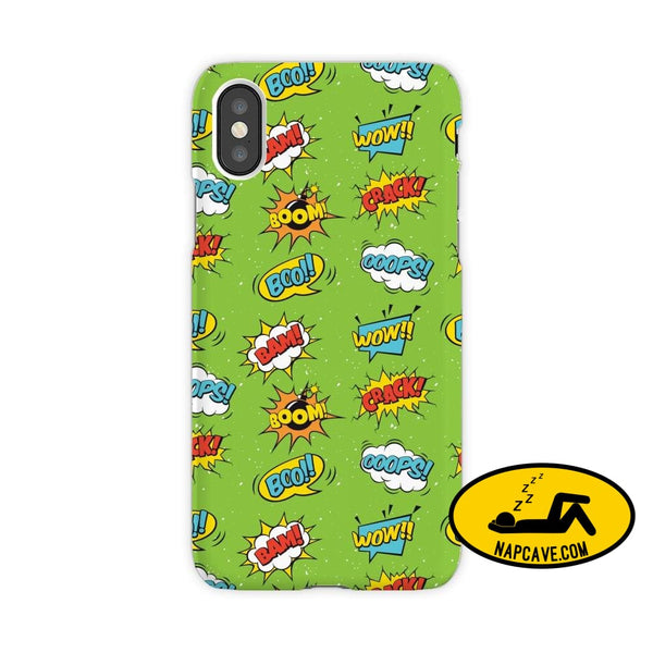 Super Hero Iphone Cases iPhone XR / pow bang bom poom JetPrint Fulfillment Super Hero Iphone Cases