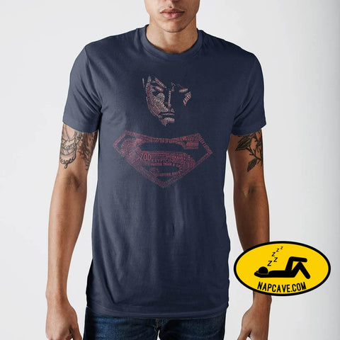 Superman Posterized Navy T-Shirt Shirt Exclusive dc comics Superman Posterized Navy T-Shirt dc comics Justice league licensed mxed shirt