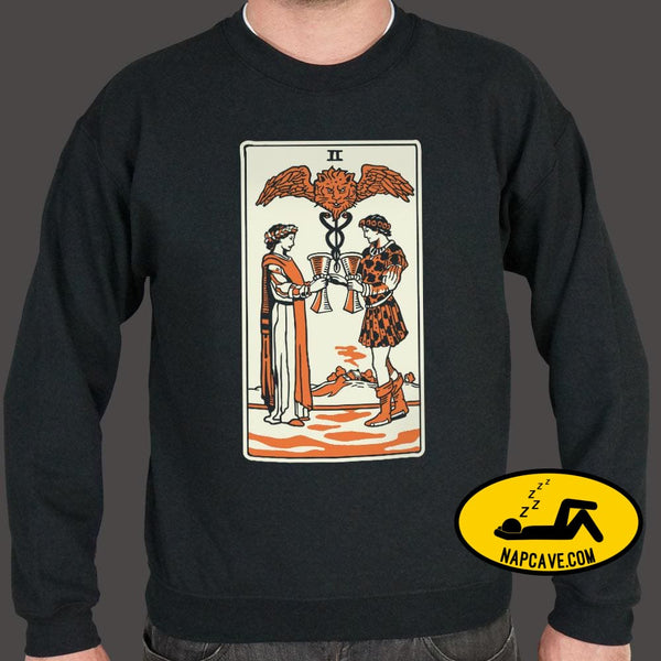 Tarot Two Of Cups Sweater (Mens) Sweatshirt US Drop Ship Tarot Two Of Cups Sweater (Mens) costumes graphic holidays hoween tank