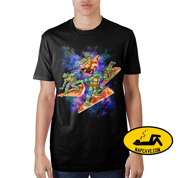 Teenage Mutant Ninja Turtles Pizza Surfing In Space T-Shirt Nick 90s Teenage Mutant Ninja Turtles Pizza Surfing In Space T-Shirt mxed