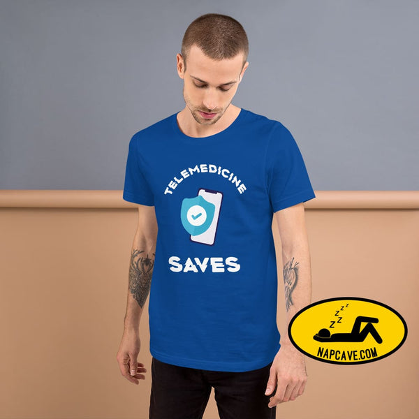 Telemedicine Saves Short-Sleeve Unisex T-Shirt The NapCave Telemedicine Saves Short-Sleeve Unisex T-Shirt coronavirus, covid-19, gifts for