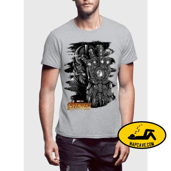 Thanos Avengers Half Sleeves T-shirt Spocket Thanos Avengers Half Sleeves T-shirt black Charcoal Gray Half Sleeves Superheros