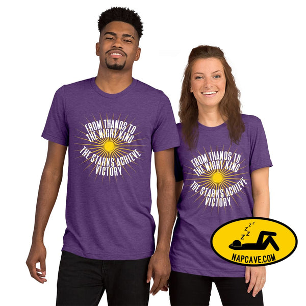 Thanos to the Night King - The Starks achieve Victory Short sleeve t-shirt Purple Triblend / XS The NapCave Thanos to the Night King - The