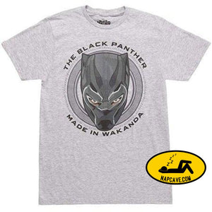 The Black Panther Made In Wakanda T-shirt Tee Shirt Marvel Comics The Black Panther Made In Wakanda T-shirt Tee Shirt mxed