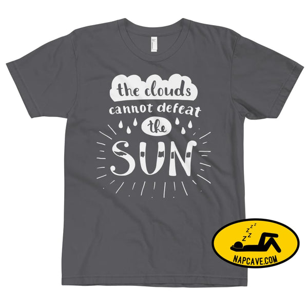 The Clouds cannot Defeat the Sun T-Shirt Asphalt / XS The NapCave The Clouds cannot Defeat the Sun T-Shirt bright fight the light fighting