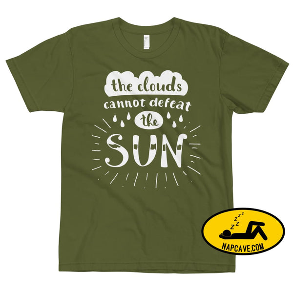 The Clouds cannot Defeat the Sun T-Shirt Olive / XS The NapCave The Clouds cannot Defeat the Sun T-Shirt bright fight the light fighting