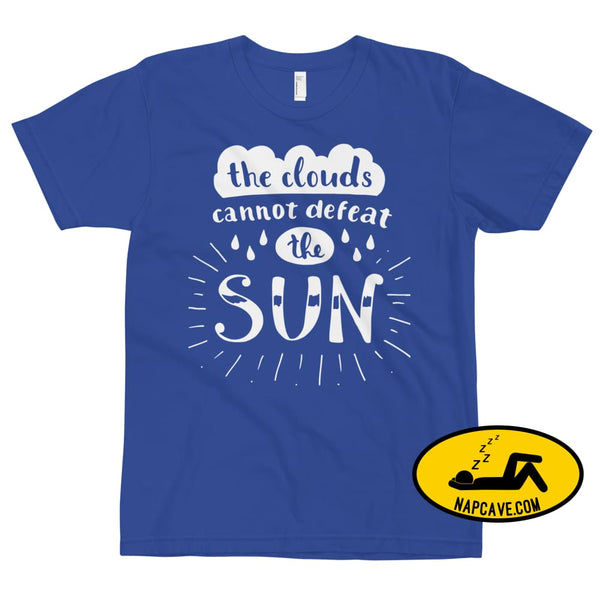 The Clouds cannot Defeat the Sun T-Shirt Royal Blue / XS The NapCave The Clouds cannot Defeat the Sun T-Shirt bright fight the light