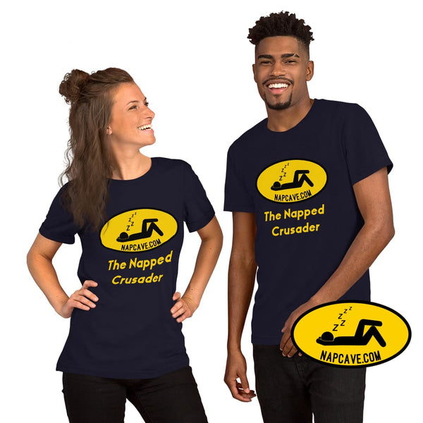 The Napped Crusader Nap Signal Short-Sleeve Unisex T-Shirt Navy / XS The NapCave The Napped Crusader Nap Signal Short-Sleeve Unisex T-Shirt
