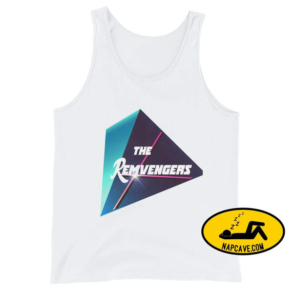 The Remvengers Unisex Tank Top White / XS The NapCave The Remvengers Unisex Tank Top Can do it with my Eyes Closed I am so good I can sleep