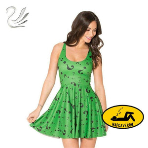 The Riddler Casual Skater dress Dress The NapCave The Riddler Casual Skater dress Batman Dress dresses mini dress nemesis