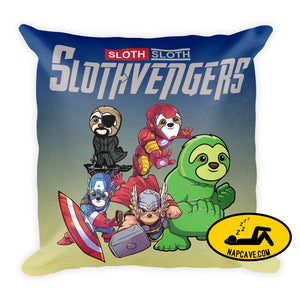 The Slothvengers Couch Pillow Pillow The NapCave The Slothvengers Couch Pillow couch couch pillow Cute Funny gifts