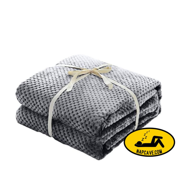Thick Coral Fleece Blanket Air Conditioning Blanket Solid Blanket grey BLANKET Nap Cave Thick Coral Fleece Blanket Air Conditioning Blanket