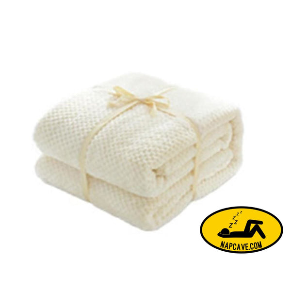 Thick Coral Fleece Blanket Air Conditioning Blanket Solid Blanket ivory BLANKET Nap Cave Thick Coral Fleece Blanket Air Conditioning Blanket