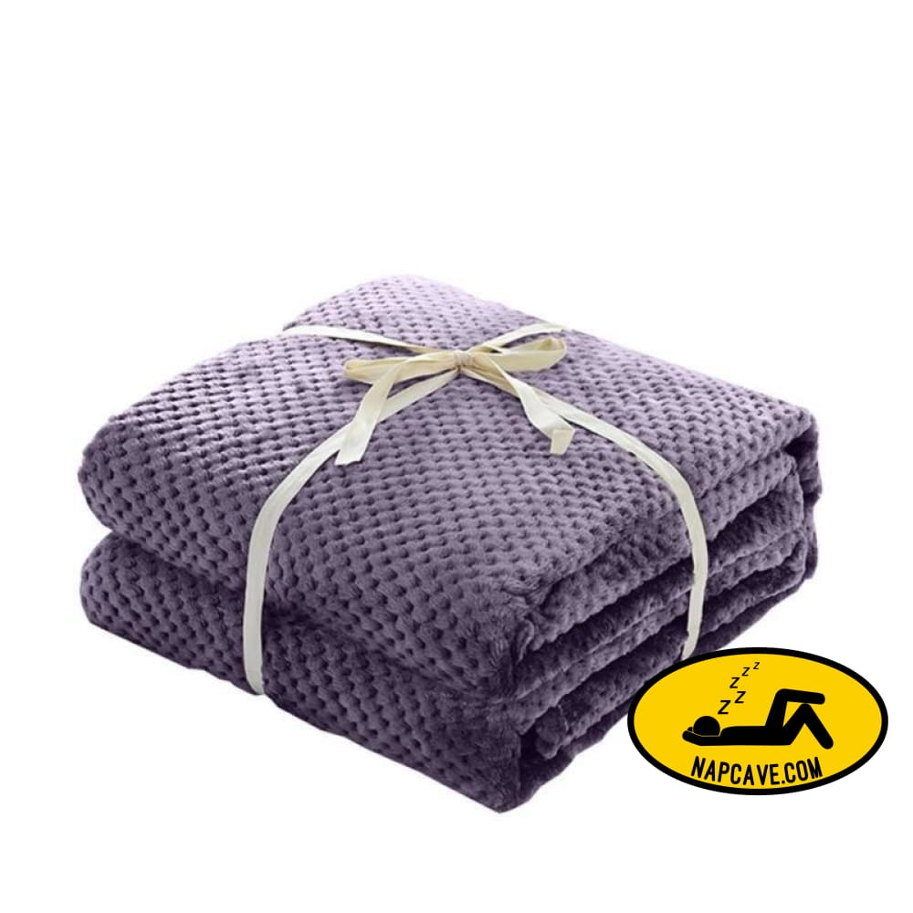 Thick Coral Fleece Blanket Air Conditioning Blanket Solid Blanket purple BLANKET Nap Cave Thick Coral Fleece Blanket Air Conditioning