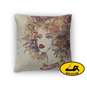 Throw Pillow Art Colorful Sketched Beautiful Girl Face In Profile Throw Pillow Gear New Throw Pillow Art Colorful Sketched Beautiful Girl