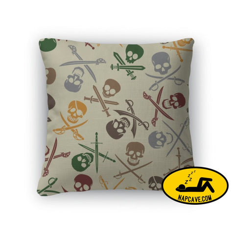 Throw Pillow Pirate Skulls With Crossed Swords Pattern Throw Pillow Gear New Throw Pillow Pirate Skulls With Crossed Swords Pattern accent